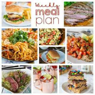 Weekly Meal Plan Week 207- Make the week easy with this delicious meal plan. 6 dinner recipes, 1 side dish, 1 dessert, and 1 fun cocktail make for a tasty week!