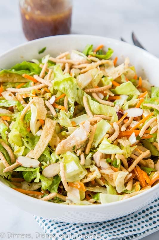 Chinese Chicken Salad is super easy to throw together when you pick up a rotisserie chicken