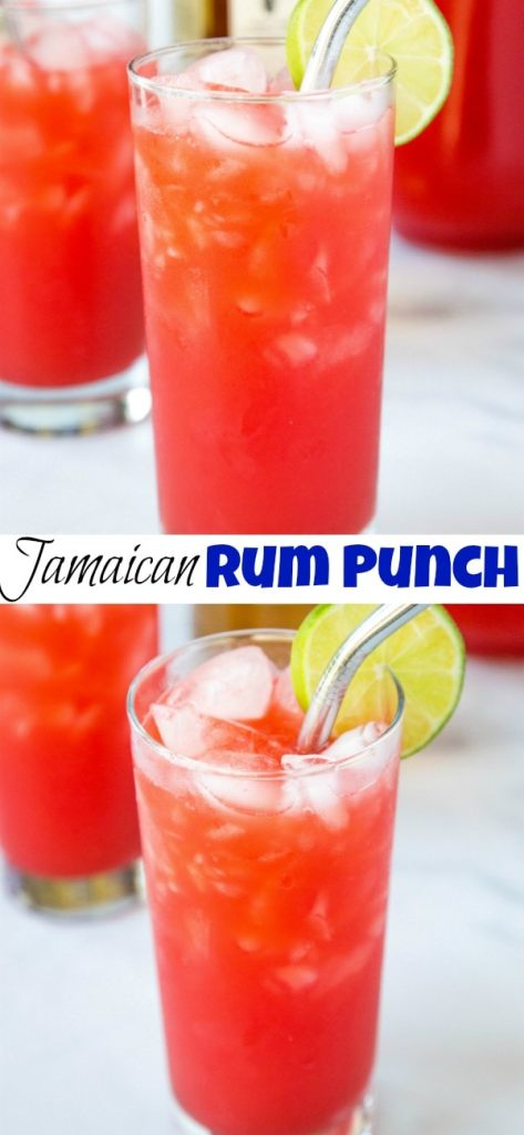 Jamaican Rum Punch - Super easy rum punch recipe that is refreshing and delicious for summer get togethers.