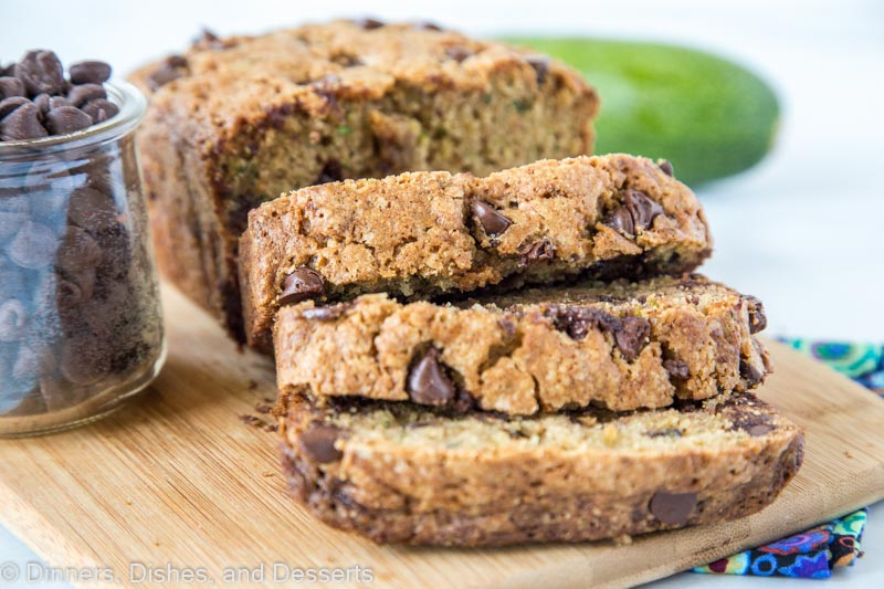 Best use for all that zucchini is this soft and tender chocolate chip zucchini bread