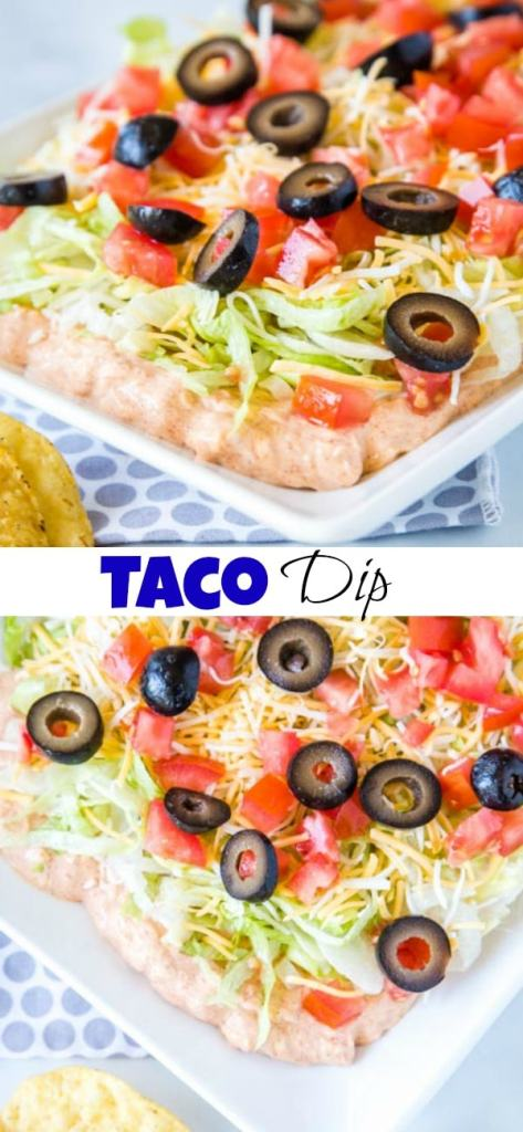 A plate of taco dip