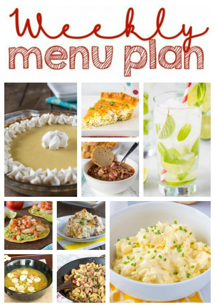 Weekly Meal Plan Week 248- Make the week easy with this delicious meal plan. 6 dinner recipes, 1 side dish, 1 dessert, and 1 fun cocktail make for a tasty week!
