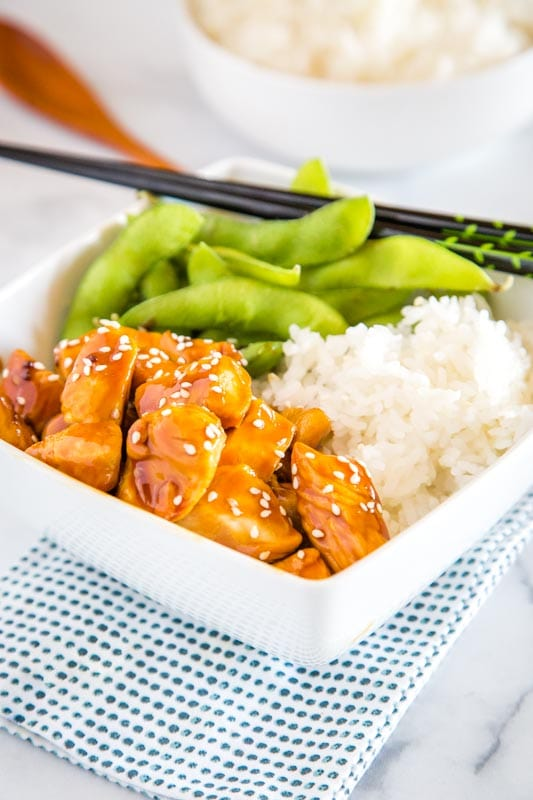 Get dinner on the table fast with these easy chicken teriyaki bowlsx
