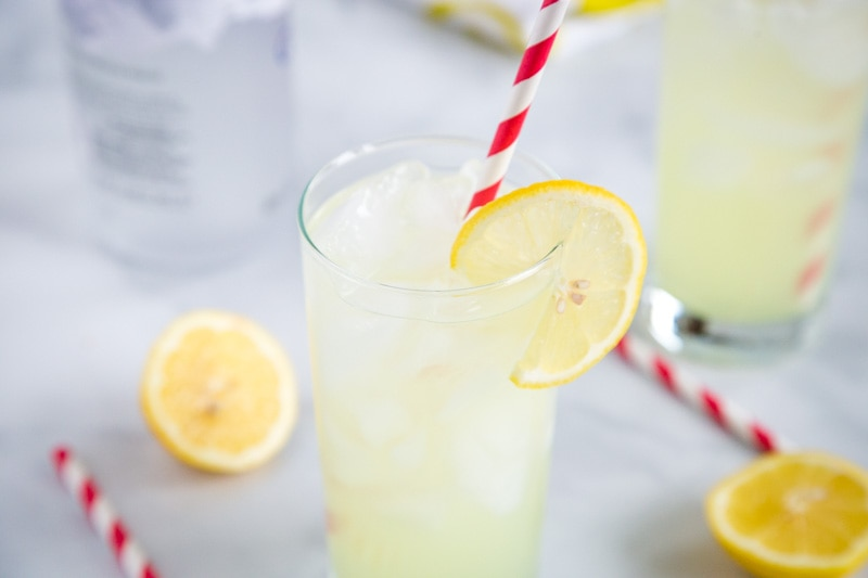 Vodka Lemonade - an easy drink recipe for a super simple summer cocktail.  It is so easy to make and such a refreshing drink you will be making over and over again!