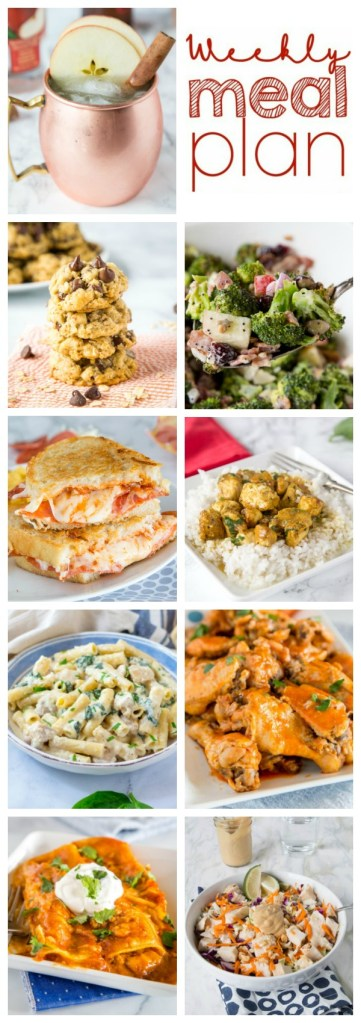 collage of meal plan