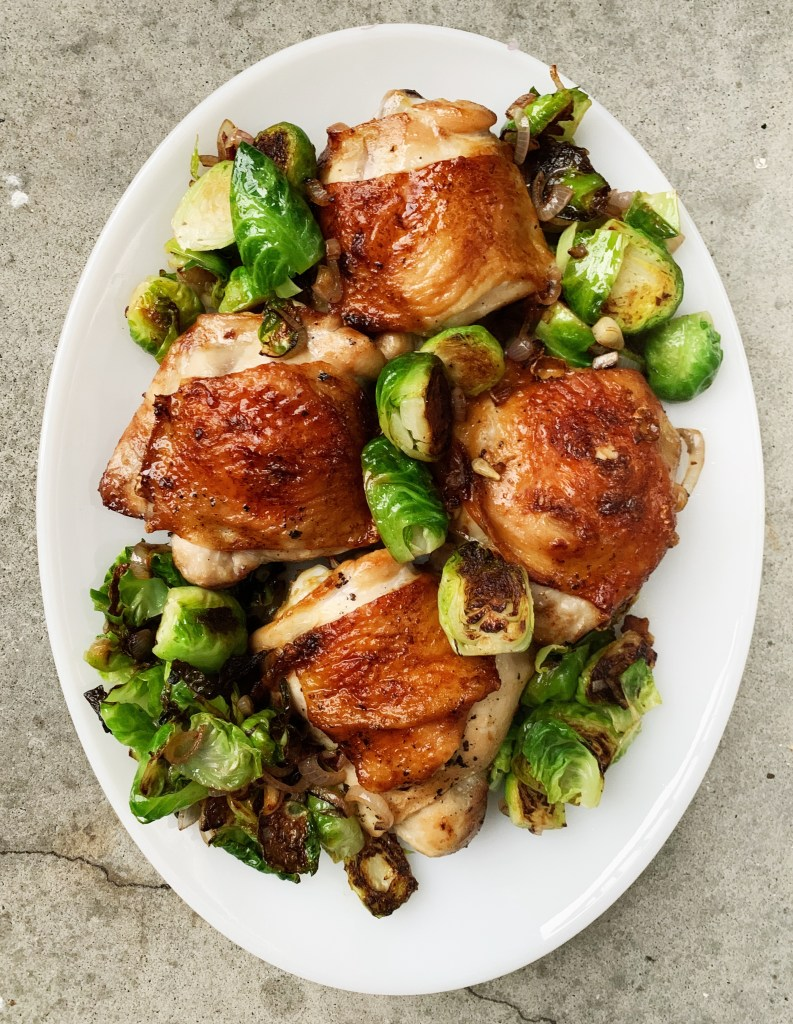 broiler garlicky chicken thighs