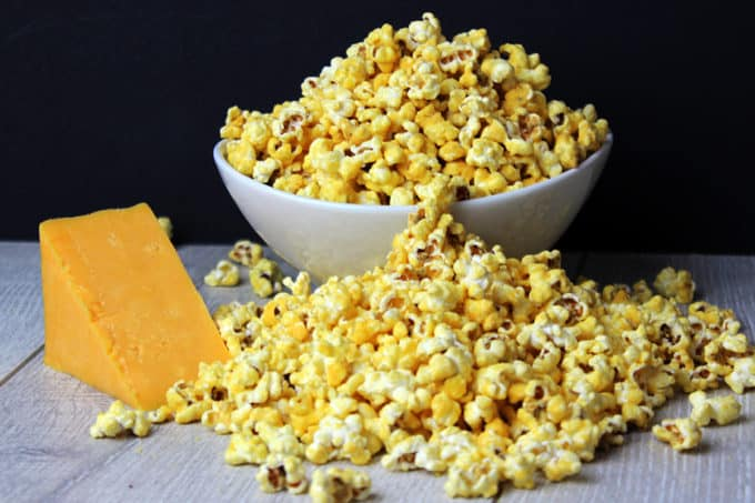 homemade cheddar cheese popcorn perfect for movie nights