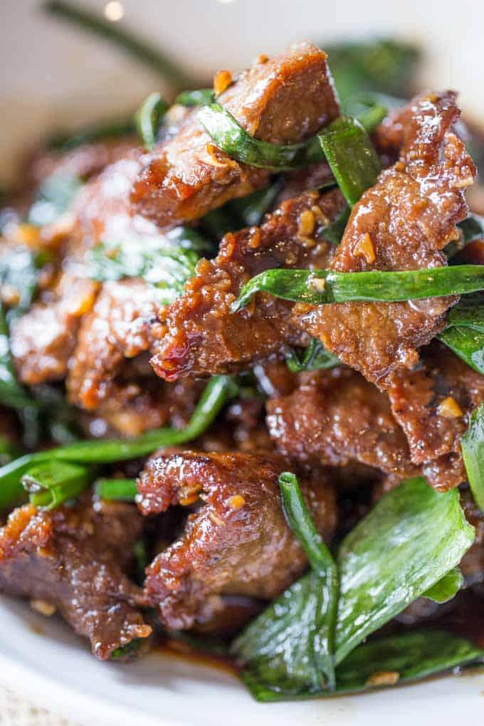 Easy Mongolian Beef - Dinner, then Dessert