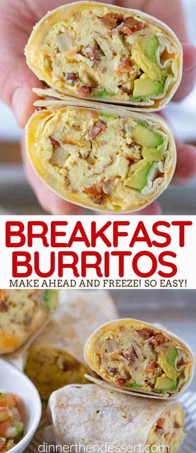 Cheesy Bacon Breakfast Burrito - Dinner, then Dessert