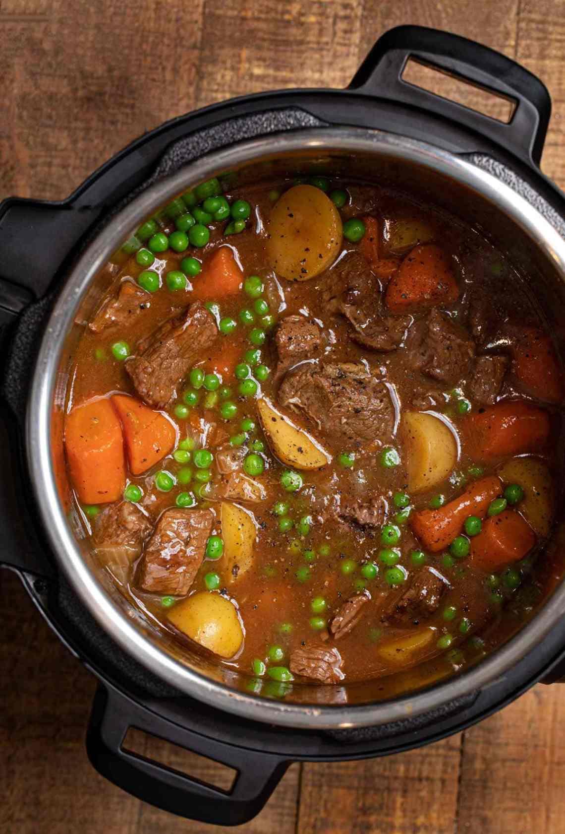 Instant Pot Beef Stew Recipe - Dinner, then Dessert