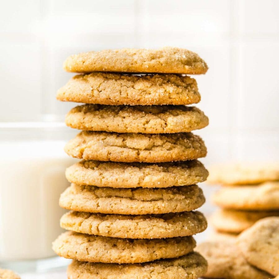 Chewy Maple Cookies in stack