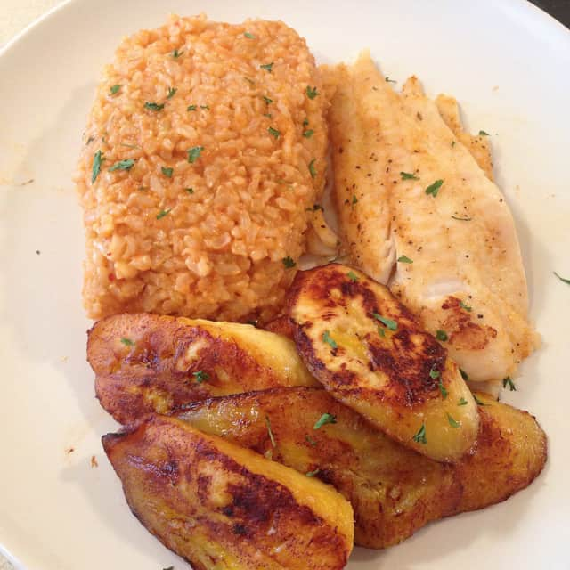 Jollof Rice with Flounder