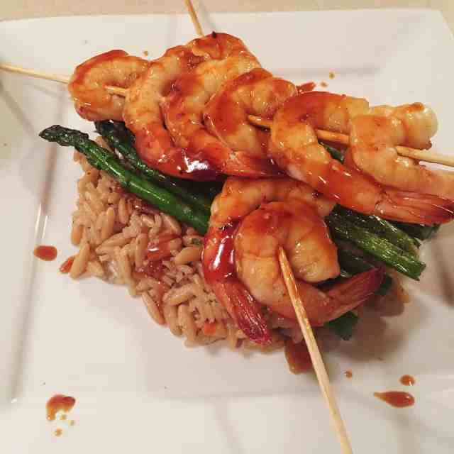 Pan Asian-Glazed Shrimp