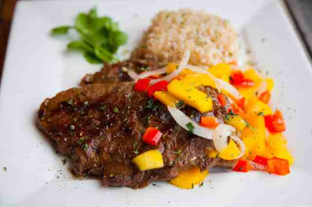 Grilled Chipotle Steak With Mango Salsa