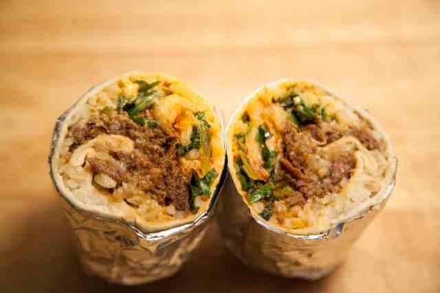 Korean BBQ Beef Burrito