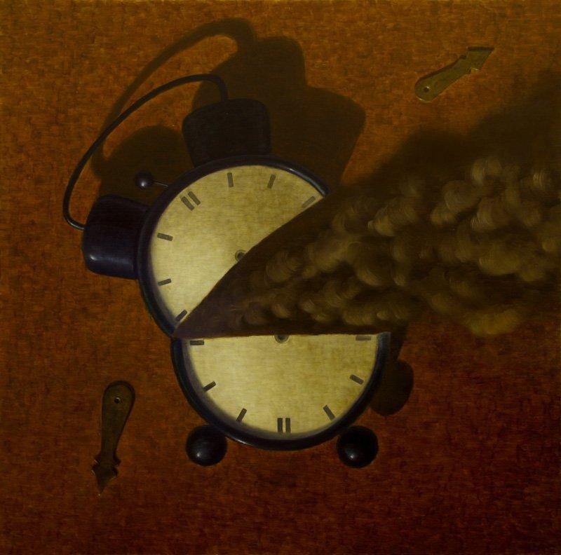 Dino Buffagni - Vodoo per fermare il tempo - Olio su tela