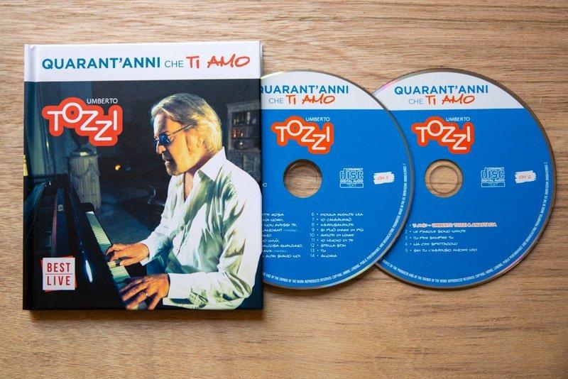 Umberto Tozzi - Quarant'anni che ti amo - Doppio CD Best Live