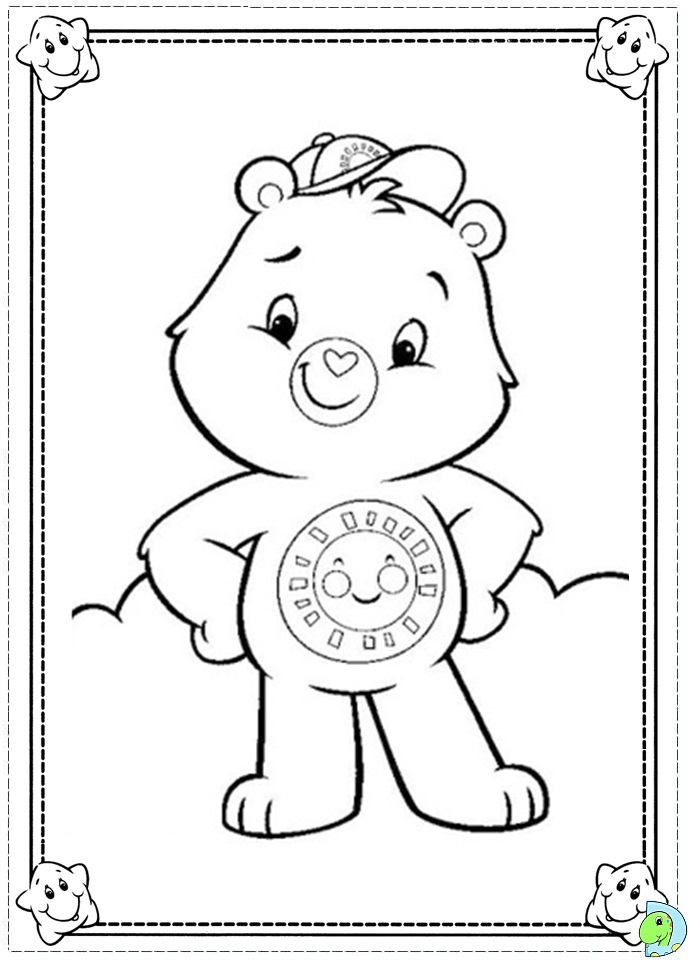 the care bears family colouring pages page 2