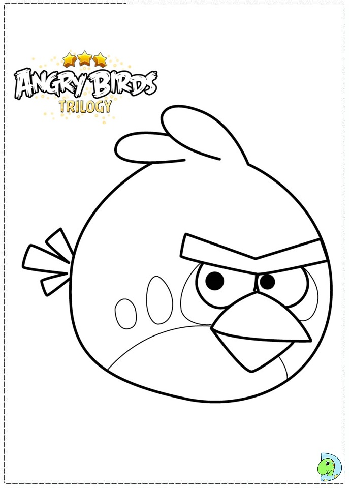angry bird hero colouring pages