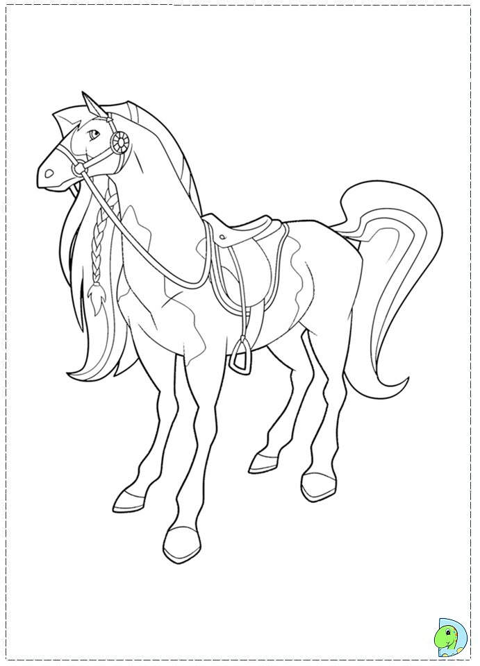 horseland coloring page dinokids org