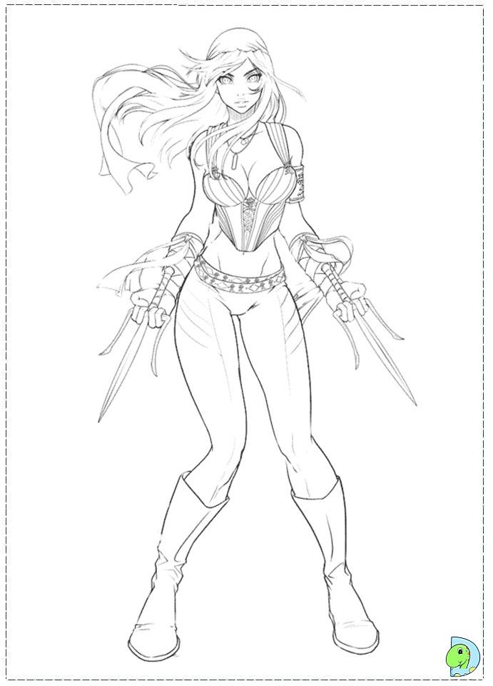 Elektra Coloring Page
