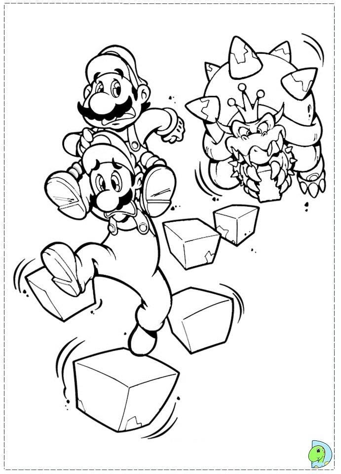 Mario Bros Yoshi Coloring Pages 142 Mario Bros Coloring Yoshi At