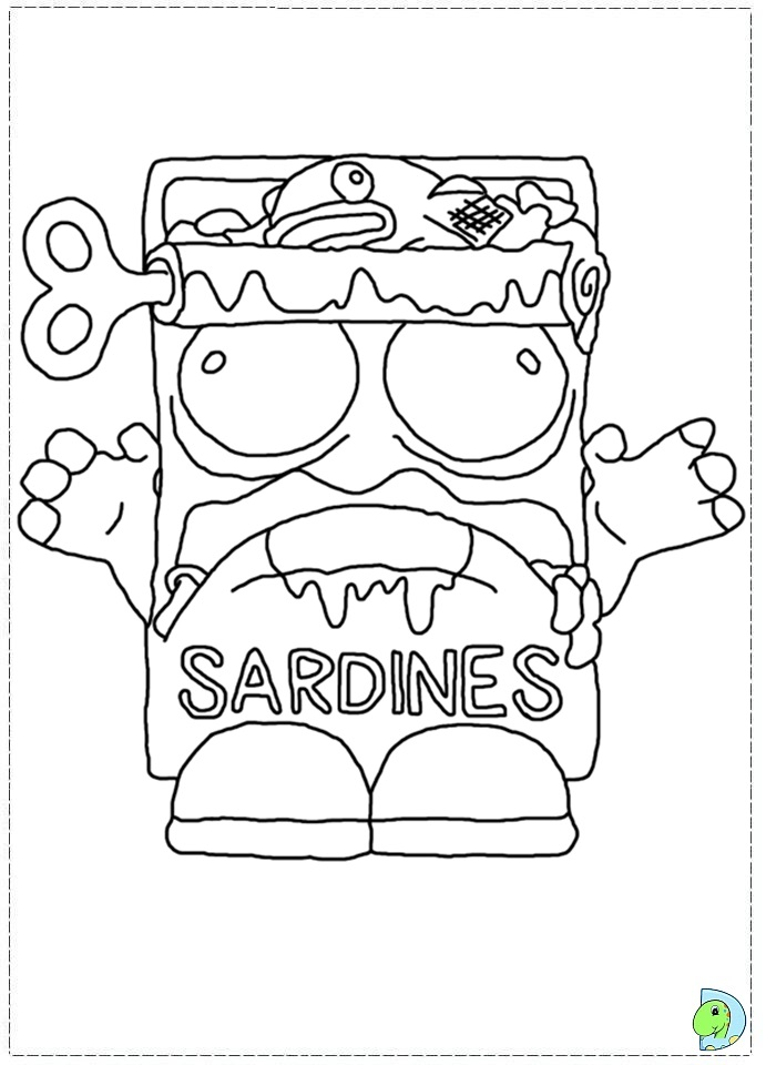 the trash pack coloring page dinokids org