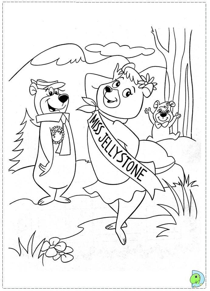 yogi bear coloring page dinokids
