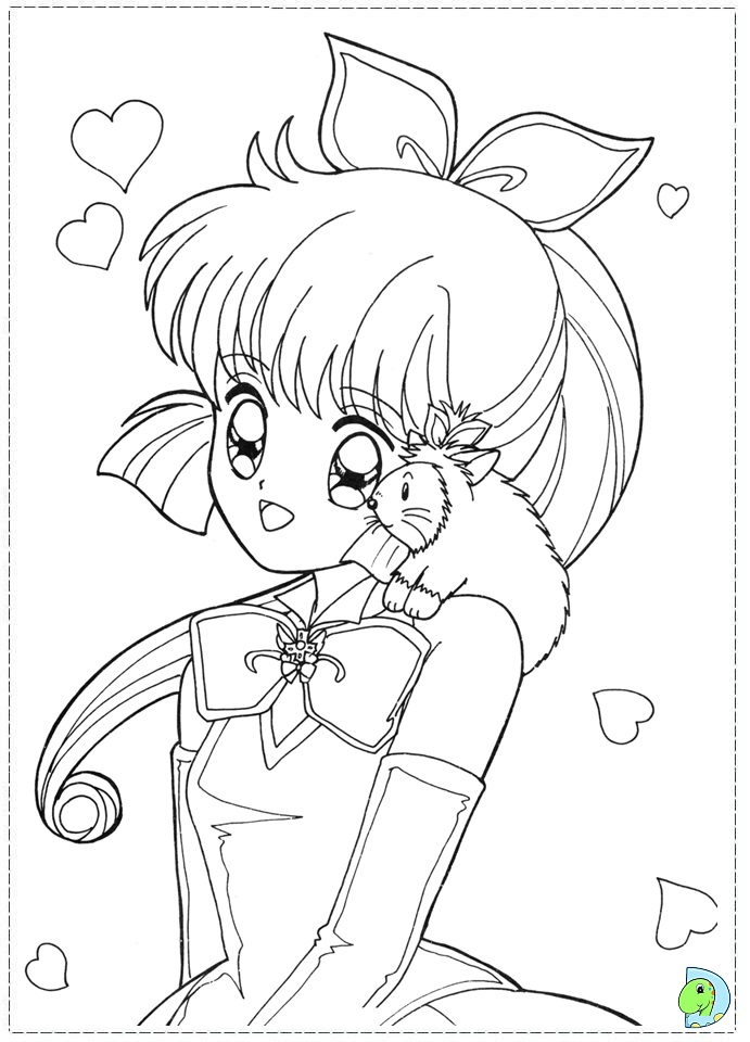free anime girl coloring pages cooloring com