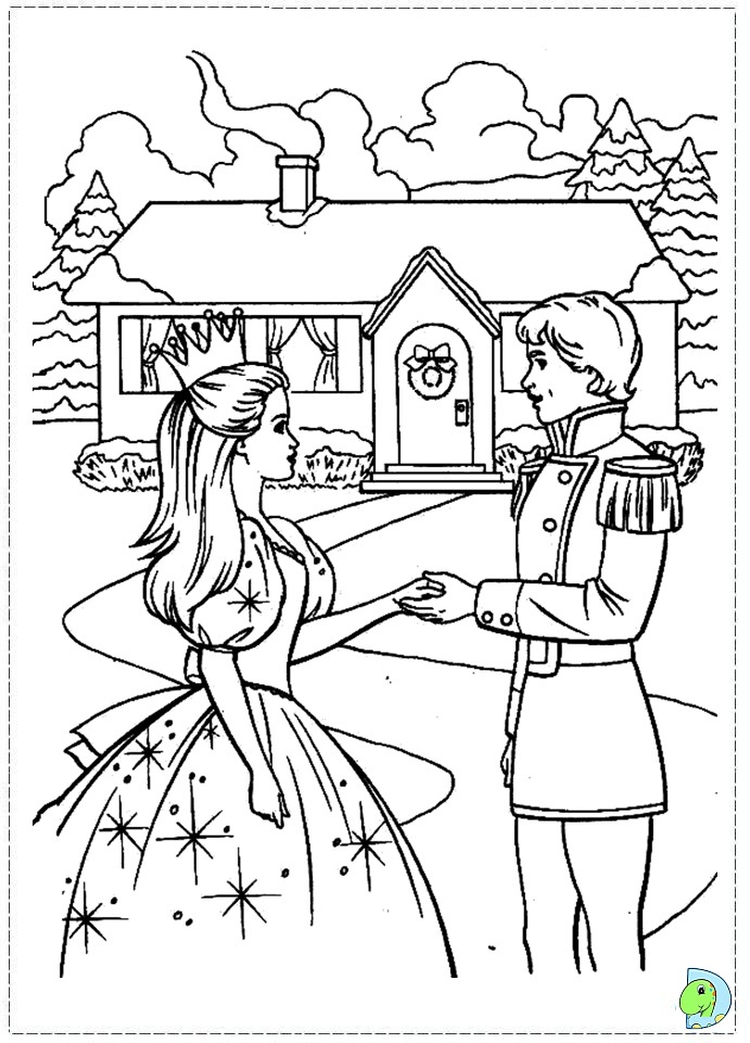 barbie nutcracker coloring page dinokids org
