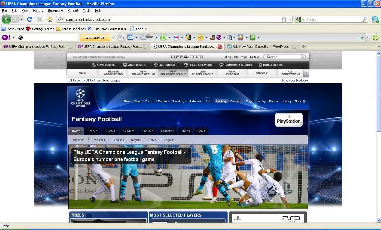 Game UEFA Champions League Fantasy Football - Liga Dinolefty.wordpress  (1/4)