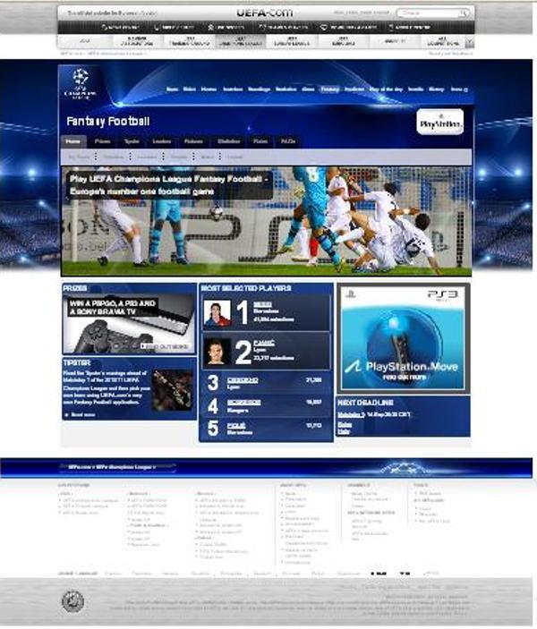 Game UEFA Champions League Fantasy Football - Liga Dinolefty.wordpress  (2/4)