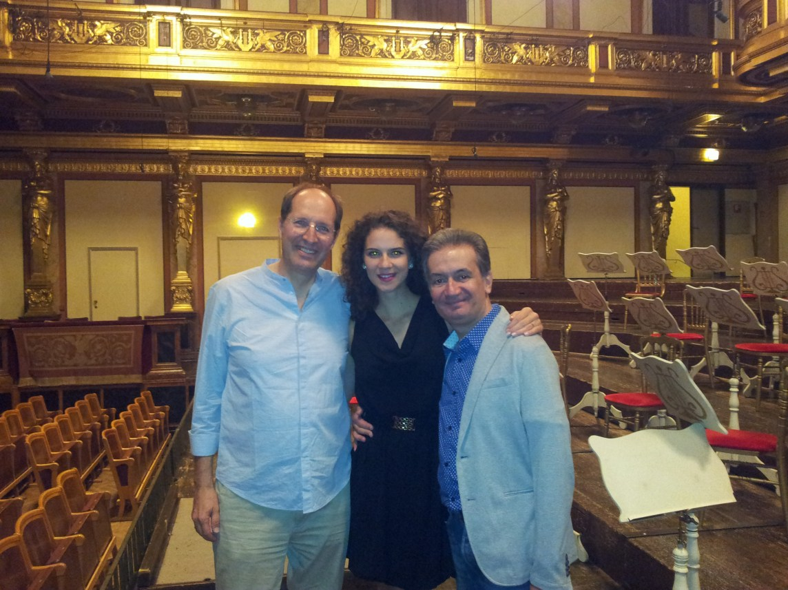 at the stage of the Musikverein-Golden Hall, Vienna