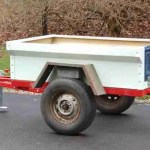 Jeep M416 M100 M101 Tub Kit with Tailgate build at home trailer