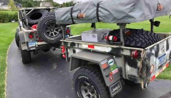 No Weld M416 Trailer Rack Build for Jeep Trailer by Customer Eric