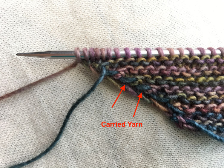 Carrying Yarn Up An Edge