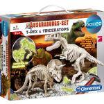 Clementoni Dinosaurier-Skelett- Set, »Ausgrabungsset T-Rex und Triceratops«