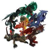 8 x Kunststoff Dinosaurier Saurier Dinos Sauriermonster Kunststoffdrachen