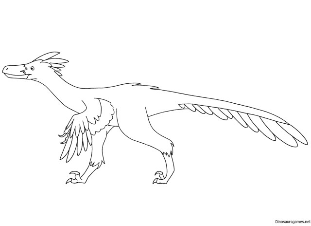 Velociraptor Coloring Page 28 - Dinosaur Coloring Pages