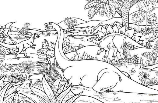 Dinosaur Coloring Pages Free Online Dinosaur Coloring Pages Page 1