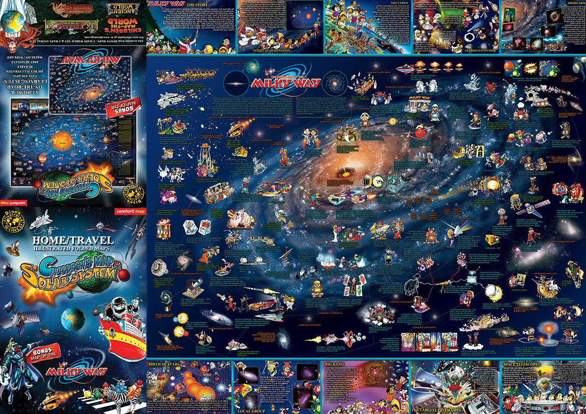 Children S Map Of The Solar System Amp Milky Way