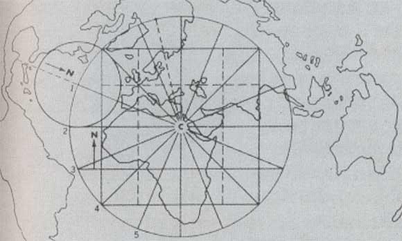 Projection de la carte de Piri Reis