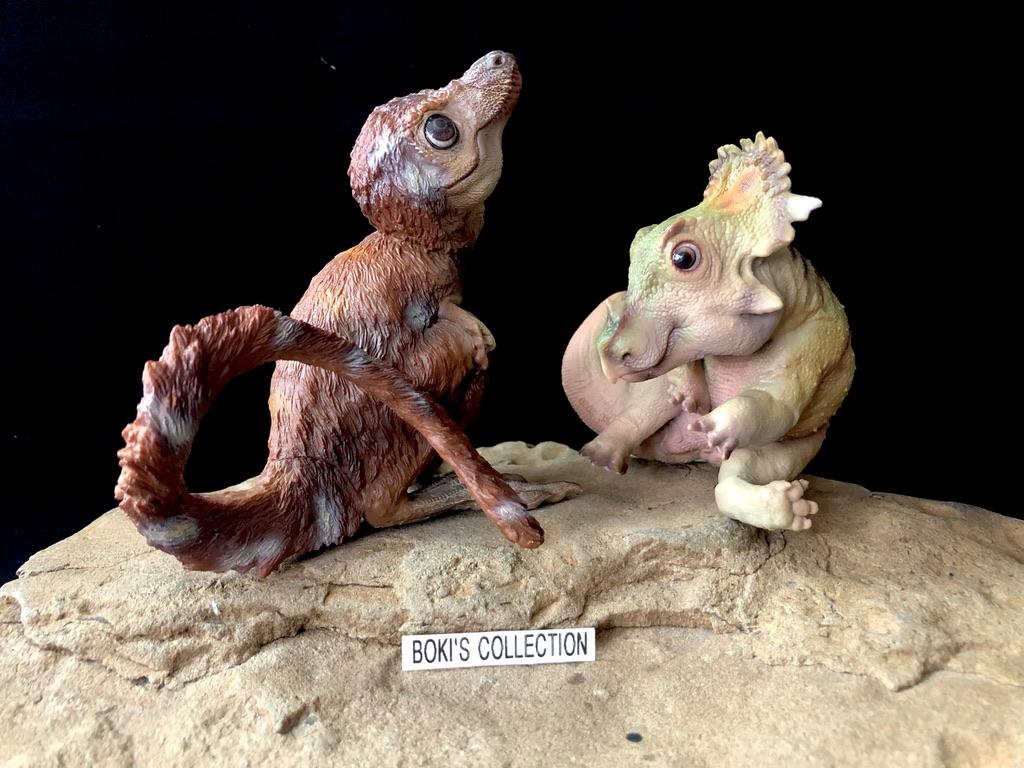 PNSO Cute Sinoceratops Baby Figure Ceratopsidae Dinosaur Collector Animal Toys