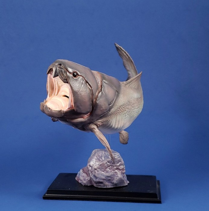 Front three-quarter view of ThinkArt Dunkleosteus