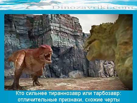 Тираннозавр против тарбозавра: кто сильнее, отличительные признаки, схожие черты