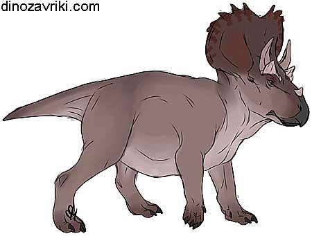 Динозавр с рогами: пентацератопс