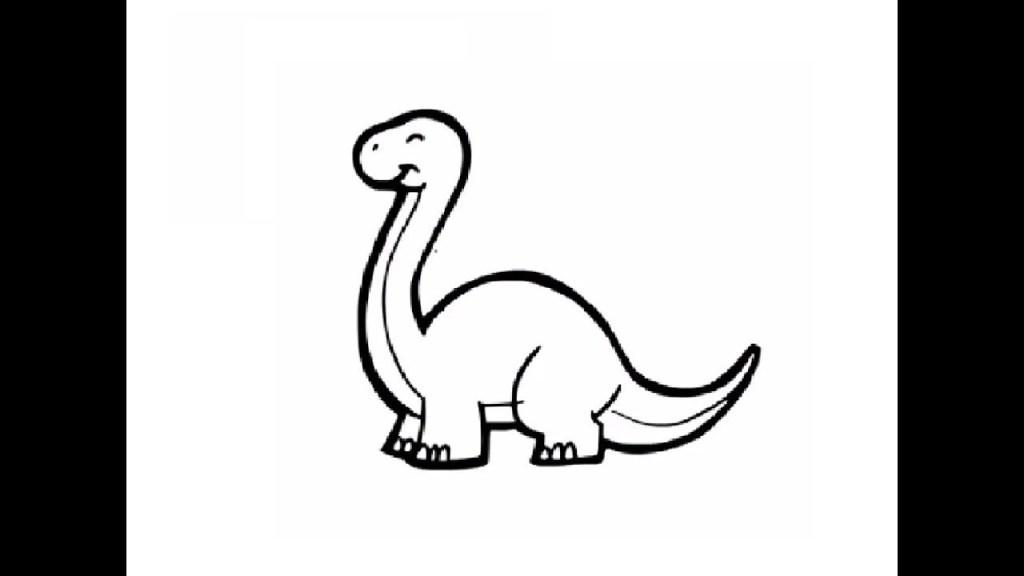 Рисуем динозавра шаг за шагом