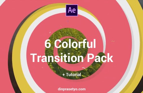 6 colorful transition pack