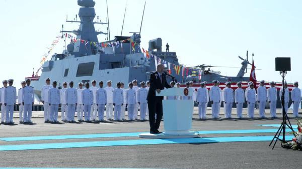 Erdogan inaugurated Turkey's new stealth warship