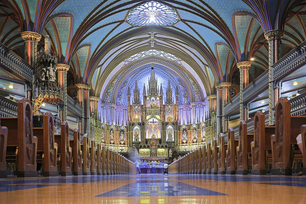 The Universal Church Notre Dame Basilica Of Montreal